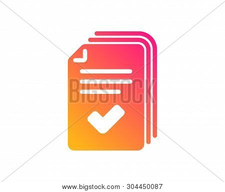 Handout Icon. Documents Example Sign. Classic Flat Style. Gradient Handout Icon. Vector