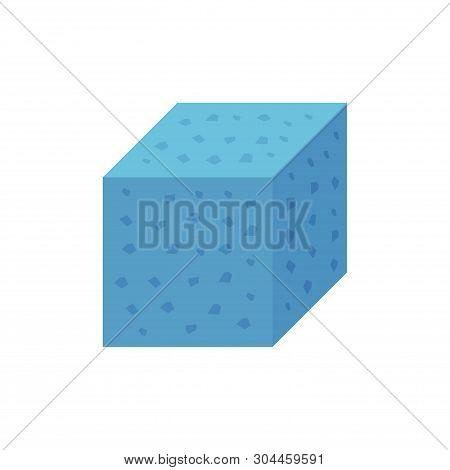 Concrete Specimen Cube Type Icon Design On White Background.
