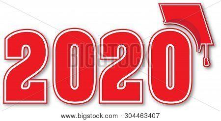Graduation Banner 2020.Red Graduating Class Vector Photo Free Trial Bigstock