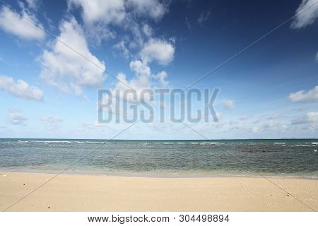 Beach And Cloud With Tropical Sea Landscape