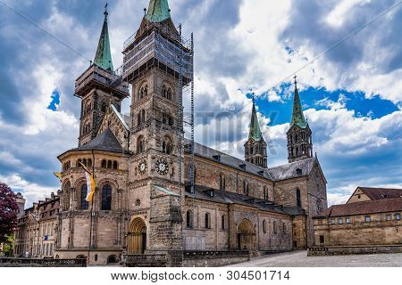 Bamberg Cathedral In Upper Franconia, Bavaria, Germany