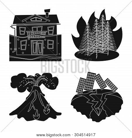 Isolated Object Of Calamity And Crash Icon. Collection Of Calamity And Disaster Vector Icon For Stoc