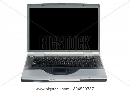Laptop. Laptop computer. Isolated on white. Room for text. Room for images. Clipping path. Isolated laptop for clip art.