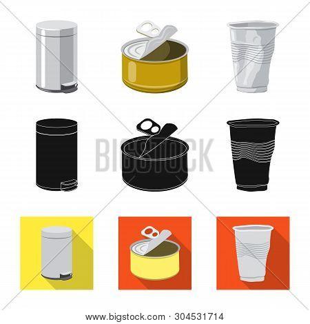 Vector Illustration Of Dump  And Sort Symbol. Collection Of Dump  And Junk Vector Icon For Stock.
