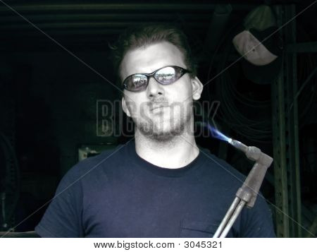 Man with Blowtorch