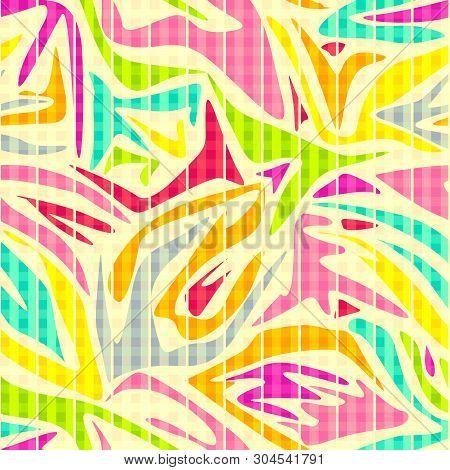 Seamless Graffiti Abstract Pattern Background Modern  Retro