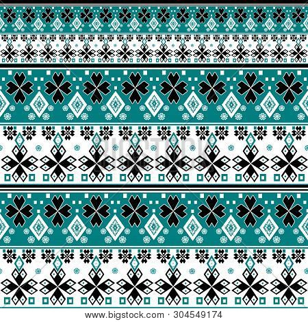 Seamless Christmas Ornamental Abstract Pattern Geometric Elements