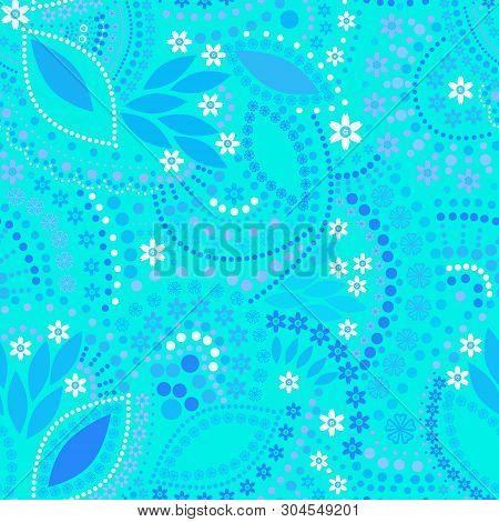 Seamless Beads Jewelry Bright Neon Pattern Background