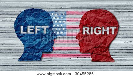 American Election Concept As A United States Politics Election Idea As The Left And Right Wing Repre