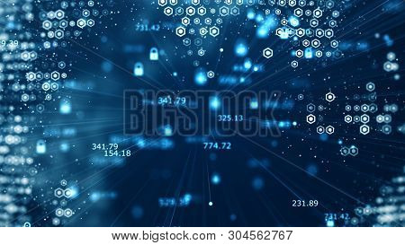 Cyber Security And Global Communication Concept. Analysis Of Information. Technology Data Binary Cod