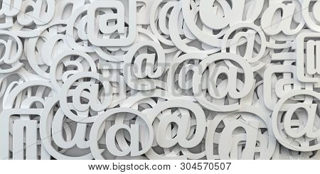Email sign abstract background. E-mail internet communication. 3d illustration