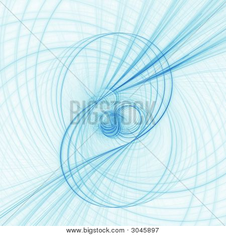 abstract chaos blur circle spiral rays on white background poster