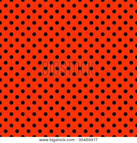 Bright Red & Black Polkadot Pattern