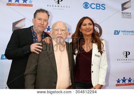 LOS ANGELES - JUN 1:  Matthew Asner, Ed Asner, Navah Paskowitz at the 7th Annual Ed Asner Poker Tournament at the CBS Studio Center on June 1, 2019 in Studio City, CA