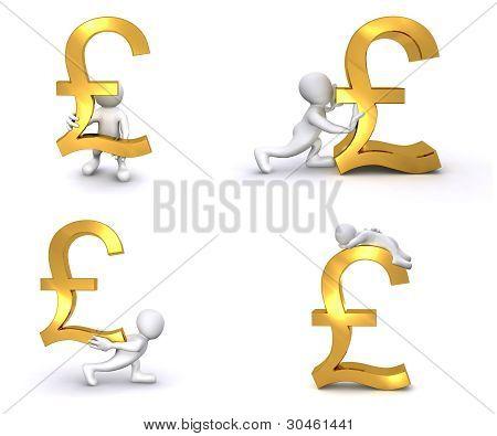 3D Human British Pound
