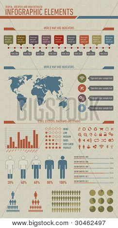 Useful, High Detailed And Vintage Styled Infographic Elements