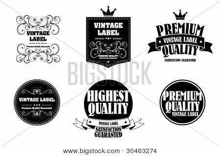Old Style Monocrome Vintage Sticker