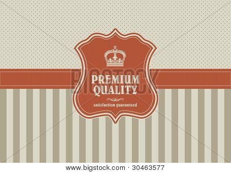 Vintage Background With Shield Element