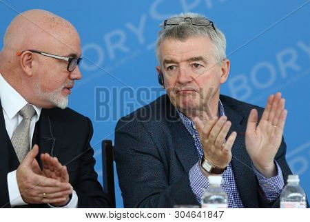 Boryspil, Ukraine - March 23, 2018: Ryanair Chief Comercial Officer David Obrien And Ryanair Chief E