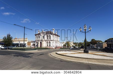Glen Innes, Australia - April 12, 2019: View Of The Magnificent 1890 Palace, Built In Italianate Sty