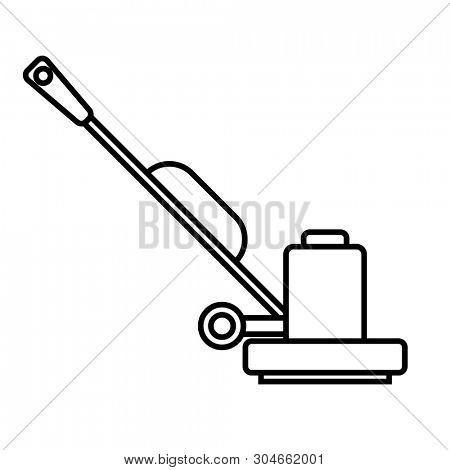 Floor Sander outline icon. Clipart image isolated on white background poster