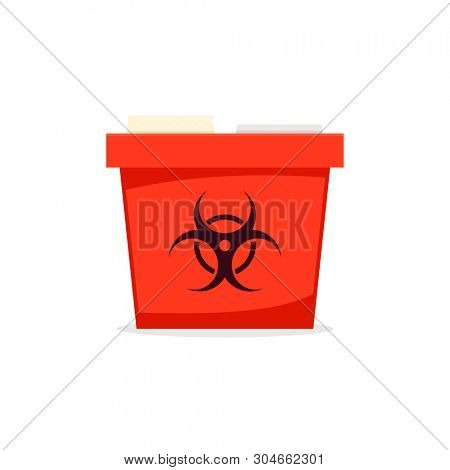 Sharp container simple icon. Medicine waste clipart isolated on white background