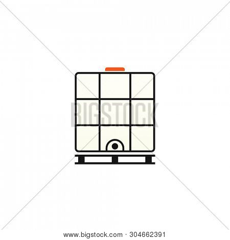 Ibc container icon. Intermediate Bulk Container. Clipart image isolated on white background poster