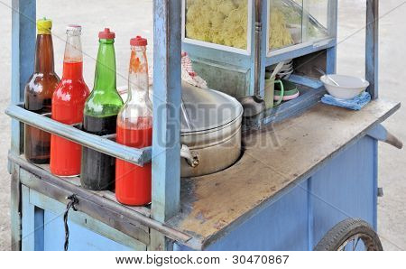 Asian bakso malang mobile noodle food stall