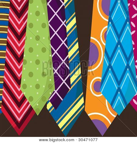 Father's Day Colorful Ties