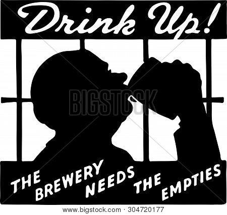 Drink Up 2 - Retro Ad Art Banner