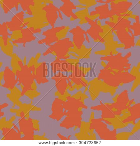 Ufo Camouflage Of Various Shades Of Toadstool, Mango And Chai Tea Colors