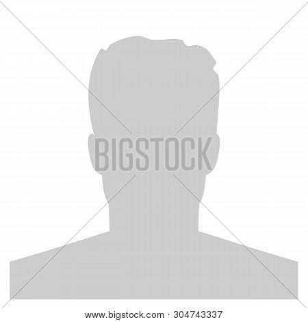 Creative Illustration Of Default Avatar Profile Placeholder Isolated On Background. Art Design Grey