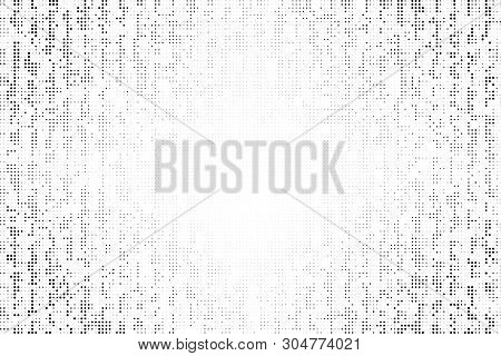 Black Worn Halftone Background. Vector Modern Background For Posters, Brochures, Sites, Web, Cards,