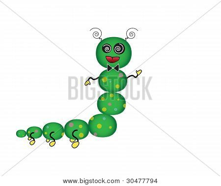 Cartoon Caterpilllar