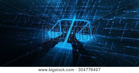 Labor Law Lawyer Legal Business Technology Concept poster