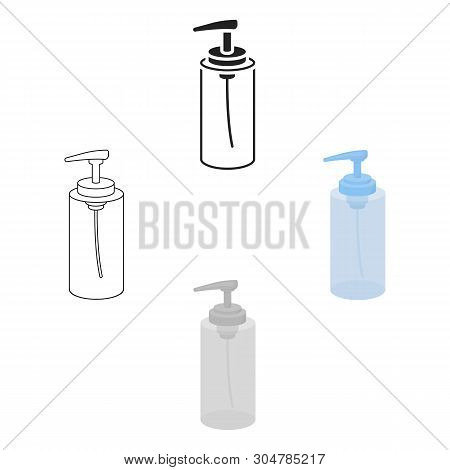 Lotion Icon In Cartoon, Black Style Isolated On White Background. Hairdressery Symbol Stock Vector I