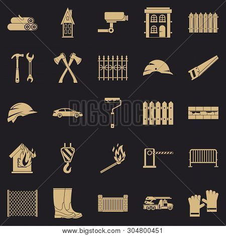 Palisade Icons Set. Simple Set Of 25 Palisade Vector Icons For Web For Any Design