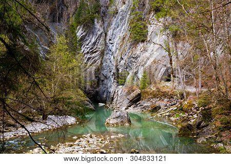Gorges De La Jogne River Canyon In Broc, Switzerland