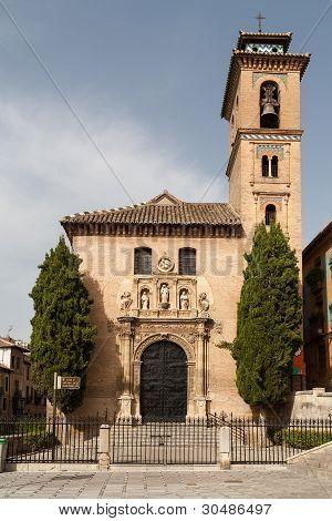 Church Of Santa Ana, Granada Showing Front Facade