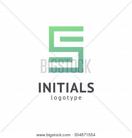 Monogram Design Elements, Graceful Template. Calligraphic Elegant Logo Design. S Logo Line Art Monog