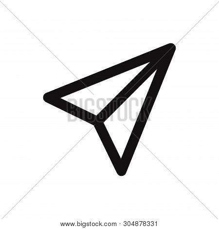 Paper Airplane Icon Isolated On White Background. Paper Airplane Icon In Trendy Design Style For Web