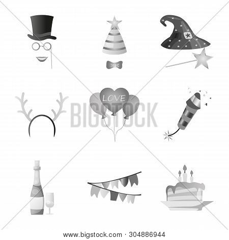 Isolated Object Of Party And Birthday Symbol. Collection Of Party And Celebration Vector Icon For St