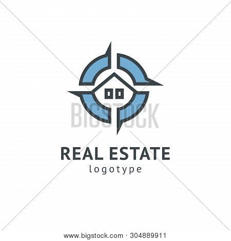 Abstract Real Estate Agent Logo Icon Vector Design. Rent, Sale Of Real Estate Vector Logo, House Cle
