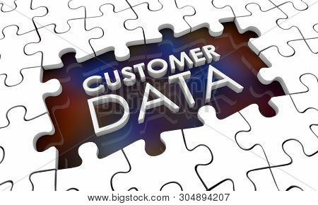 Customer Data Incomplete Puzzle Pieces Hole Gap 3d Illustration