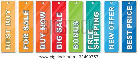 Buy tags vector collection