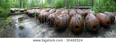 Sea Mines In Forest