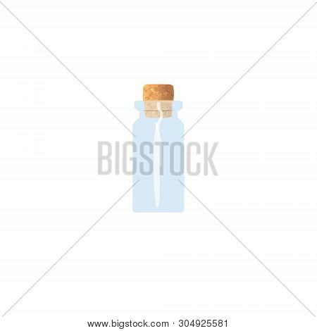 Oil Empty Phial With Cork, Tranparent Icy-white Vial, Scent Bottle, Medicine Bottle, Jar. For Drugs,