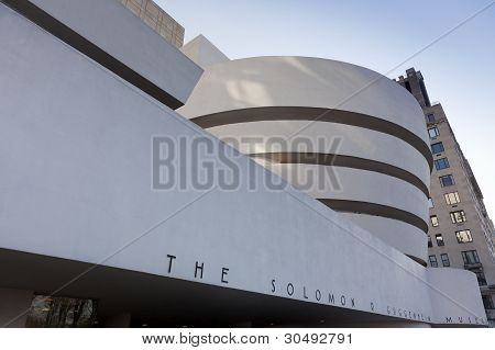 Facade Of The Guggenheim Museum, December 19, 2011