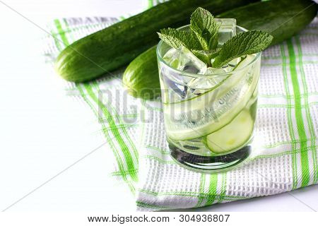 Infused Cucumber Water With Mint. Detox Water