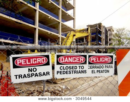 Closed Danger